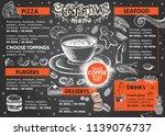 christmas menu. restaurant menu. | Shutterstock .eps vector #1139076737