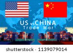 concept image of  usa china eu... | Shutterstock . vector #1139079014