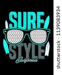 surf style california glasses...   Shutterstock .eps vector #1139083934