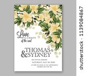 wedding invitation design... | Shutterstock .eps vector #1139084867