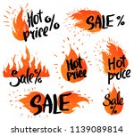 set of design elements with... | Shutterstock .eps vector #1139089814