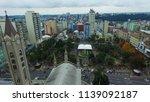 Aerial view of downtown Caxias do Sul - Rio Grande do Sul - Brazil