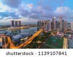 singapore landmark city skyline ... | Shutterstock . vector #1139107841