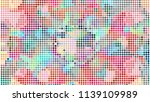 geometric design  mosaic of a... | Shutterstock .eps vector #1139109989