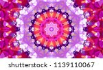 geometric design  mosaic of a... | Shutterstock .eps vector #1139110067