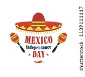 mexico independence day... | Shutterstock .eps vector #1139111117