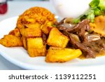 fried sweet plantains. ripe... | Shutterstock . vector #1139112251