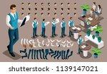 isometric vintage background ... | Shutterstock .eps vector #1139147021