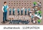 isometric vintage background ... | Shutterstock .eps vector #1139147024