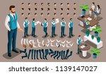 isometric vintage background ... | Shutterstock .eps vector #1139147027