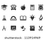 education icons | Shutterstock .eps vector #113914969