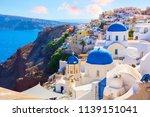 santorini island  greece. oia...   Shutterstock . vector #1139151041