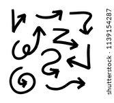 set of hand drawn vector arrows ... | Shutterstock .eps vector #1139154287