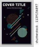 cover layout  pink blue design. ... | Shutterstock .eps vector #1139156897