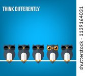 think differently   being... | Shutterstock .eps vector #1139164031
