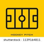 hockey pitch icon signs | Shutterstock .eps vector #1139164811