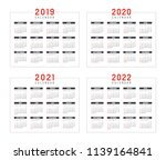 set of minimalist calendars ... | Shutterstock .eps vector #1139164841