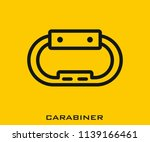 carabiner icon signs | Shutterstock .eps vector #1139166461