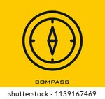 compass icon signs | Shutterstock .eps vector #1139167469