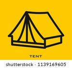 tent icon signs | Shutterstock .eps vector #1139169605