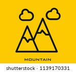 mountain icon signs | Shutterstock .eps vector #1139170331