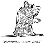 abstract illustration of beaver ... | Shutterstock .eps vector #1139173469
