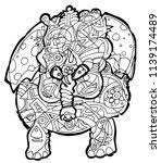 abstract illustration of... | Shutterstock .eps vector #1139174489