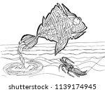 abstract illustration of fish... | Shutterstock .eps vector #1139174945