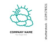 clouds company logo design... | Shutterstock .eps vector #1139178521