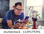 men shopping construction... | Shutterstock . vector #1139179391