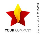 red and yellow five point star... | Shutterstock .eps vector #1139184554
