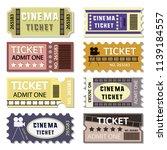old cinema tickets for cinema | Shutterstock .eps vector #1139184557