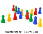 game figurines as a cross ... | Shutterstock . vector #11391850
