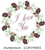 vector clipart wreath of... | Shutterstock .eps vector #1139194001