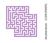 purple square labyrinth. a game ... | Shutterstock .eps vector #1139194091