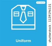 uniform vector icon isolated on ... | Shutterstock .eps vector #1139196131