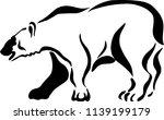 bear in vector | Shutterstock .eps vector #1139199179