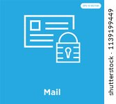 mail vector icon isolated on... | Shutterstock .eps vector #1139199449
