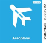 aeroplane vector icon isolated... | Shutterstock .eps vector #1139199455