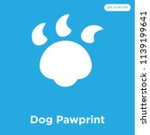 dog pawprint vector icon... | Shutterstock .eps vector #1139199641