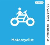 motorcyclist vector icon... | Shutterstock .eps vector #1139199719