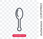 spoon vector icon isolated on... | Shutterstock .eps vector #1139199815