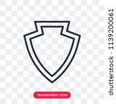 shield vector icon isolated on... | Shutterstock .eps vector #1139200061