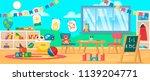 kindergarten education interior.... | Shutterstock .eps vector #1139204771