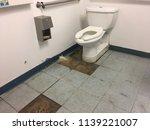 disgusting public bathroom... | Shutterstock . vector #1139221007