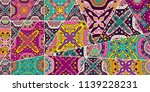 vector patchwork quilt pattern. ... | Shutterstock .eps vector #1139228231