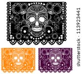 day of the dead decoration.... | Shutterstock .eps vector #113923441
