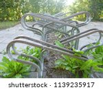 dutch bicycle stands  | Shutterstock . vector #1139235917
