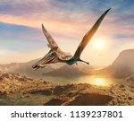 Pterosaur Scene 3d Illustration
