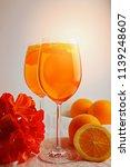refreshing cold drink aperol...   Shutterstock . vector #1139248607